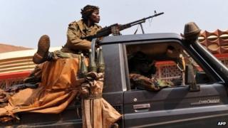 CAR soldier in Bangui