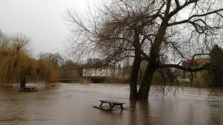 The River Ure at Boroughbridge