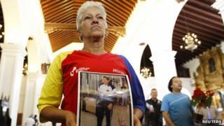 Mass for Chavez on Christmas eve 2012