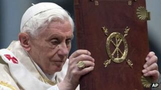 Pope Benedict XVI in Vatican, 1 Jan 13