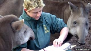 Paignton Zoo animal head count, January 2013