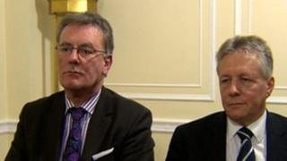 Mike Nesbitt and Peter Robinson
