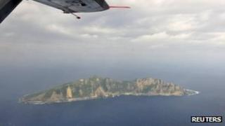 File photo of disputed islands known as Senkaku in Japanese and Diaoyu in Chinese