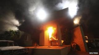 US consulate attack in Benghazi, 11 Sept 2012