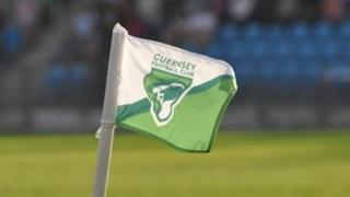 Guernsey FC corner flag flying at Footes Lane