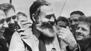 Hemingway with US troops in 1944