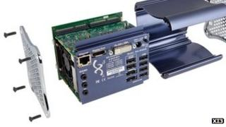 Exploded view of Xi3 PC