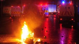 Police were attacked with petrol bombs and other missiles for a fifth night in a row