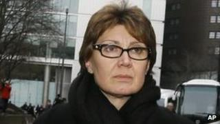 April Casburn leaves Southwark Crown Court on 10 January after her conviction