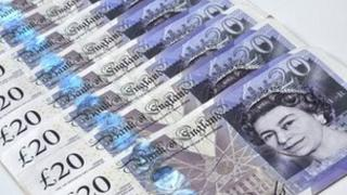 Twenty pound notes