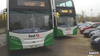 Bus fleet at Bath park-and-ride sites