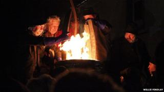 Burning of the Clavie 2013