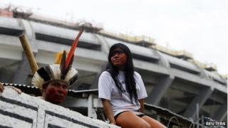 Indigenous community next to Maracana, Rio