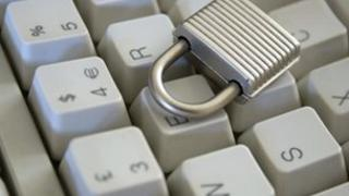 Keyboard and padlock