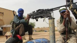 Movement for Oneness and Jihad in West Africa (Mujao) fighters in Mali (7 August 2012)