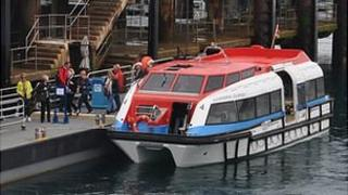 Cruise liner tender in Guernsey's St Peter Port Harbour
