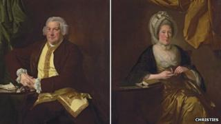 Portraits of Francis Hurt and Mary Hurt