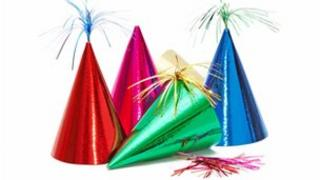 Cone-shaped party hats