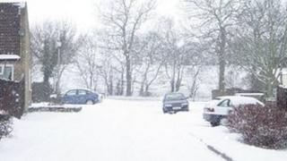 Stevenage in the snow