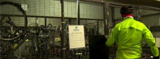 Cycle cage at Allstate in Belfast