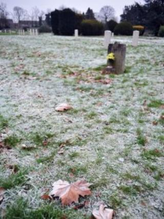 A cemetery in Chelmsford
