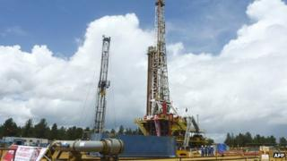 An oil well operated by Venezuela's state-owned oil company PDVSA in Morichal (2011 file picture)