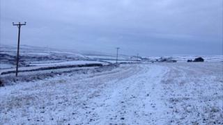 Snow near Penzance