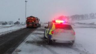 snow on the A66