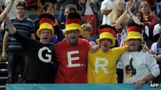 German sports fans