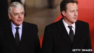 John Major and David Cameron