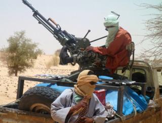 Islamist rebel fighters in northern Mali
