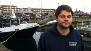 Ryan MacGregor rescued the woman from Hartlepool Marina