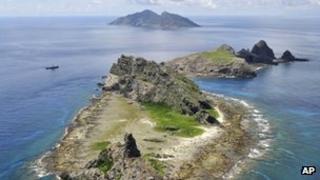 Aerial view of the Senkaku/Diaoyu/Diaoyutai islands