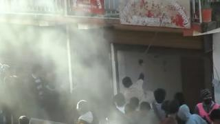 Protesters attack the Maoist party headquarters in Dailekh on 23 January 2013