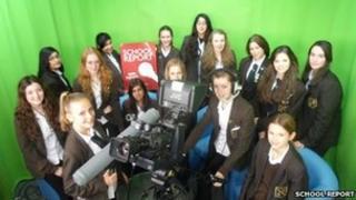 School reporters from Fullbrook School