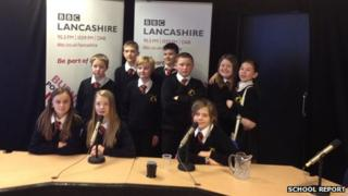 Hameldon Community College School Reporters at BBC Radio Lancashire