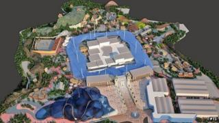 Computer generated image of proposed entertainment resort