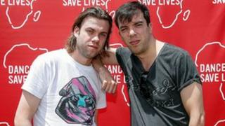 Bingo Players, aka Paul Baumer (left) and Maarten Hoogstraten. Photo by Kane Hibberd/(RED) via Getty Images