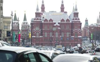 Traffic jam in Moscow
