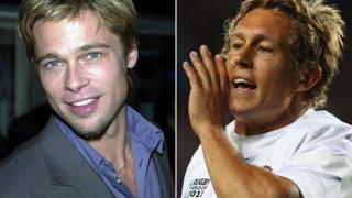 Brad Pitt and Jonny Wilkinson