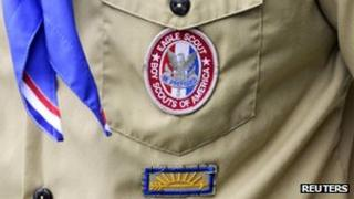 Eagle Scout badge from Boy Scouts of America file image