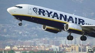 Ryanair plane taking off from Barcelona - file pic