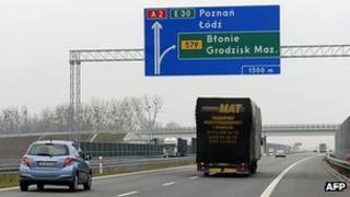 Polish motorway - file pic