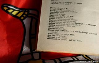 Manx dictionary, photo courtesy of Rhisiart Hinck/Flickr