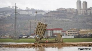 Israeli Iron Dome defence system has been deployed near the city of Haifa
