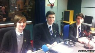Garry (left), Jack (centre) and Kane (right) from St Columb's College