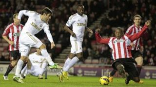 Sunderland v Swansea in January 2012