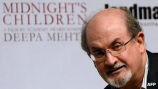 Sir Salman Rushdie at a function to promote Midnight's Children in Mumbai on 29 January 2013