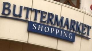 Front of Buttermarket Shopping Centre