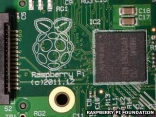 Close-up of Raspberry Pi Model A